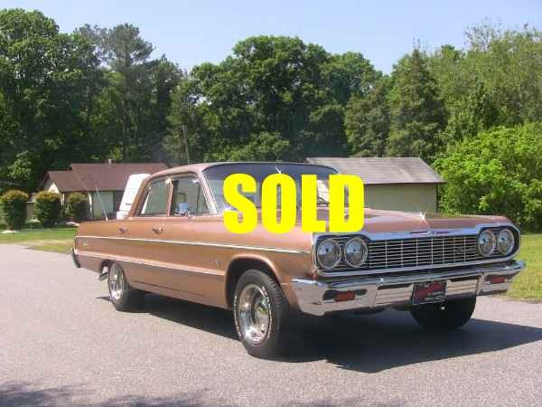 Used Chevy Trucks For Sale In Nc 1964 Chevrolet Impala Stock # A122 for sale near Cornelius ...