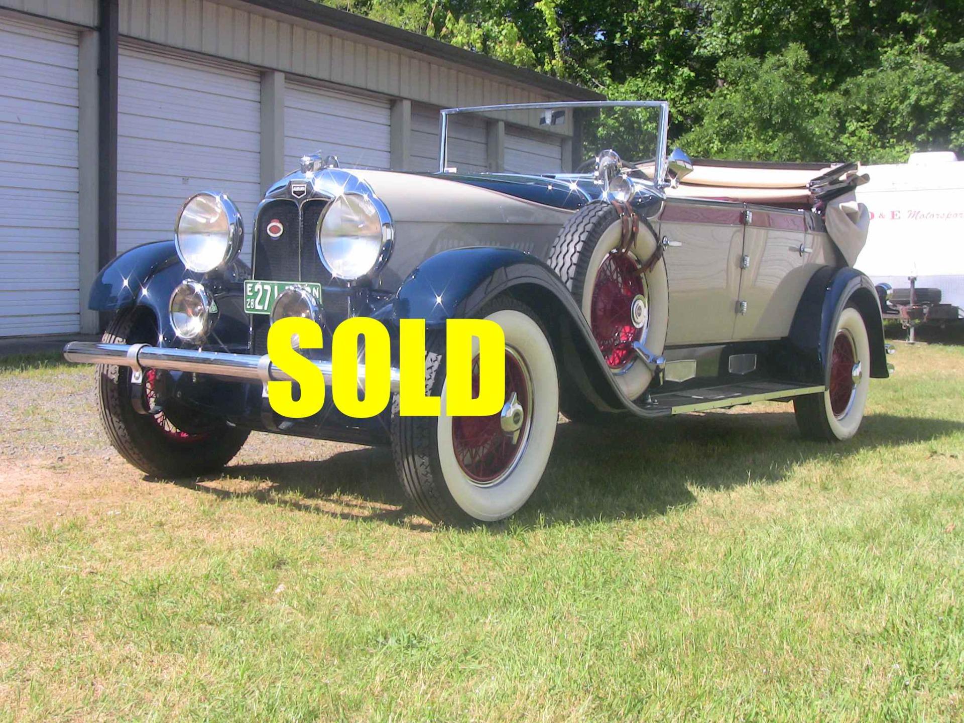 Used 1928 Auburn Phaeton Convertible Sedan  116 , For Sale $85000, Call Us: (704) 996-3735