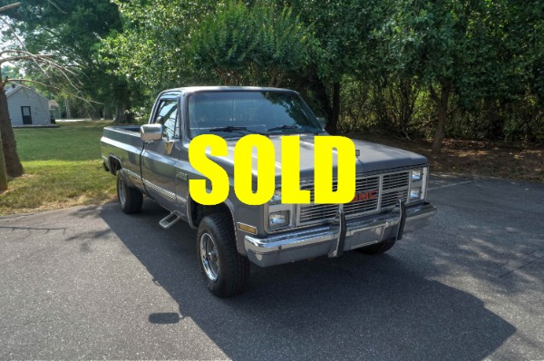 1987 GMC Sierra Classic 1500 Pickup Truck  For Sale $12700