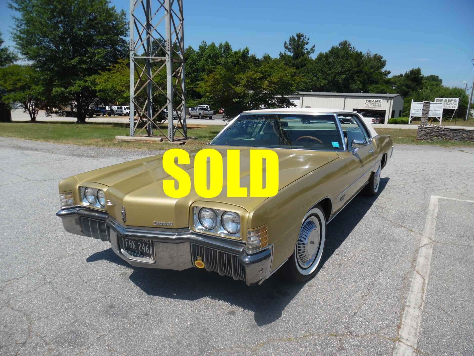 Used 1972 Oldsmobile Toronado Brougham  130 , For Sale $17500, Call Us: (704) 996-3735